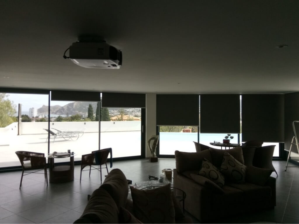 Roller blinds inside